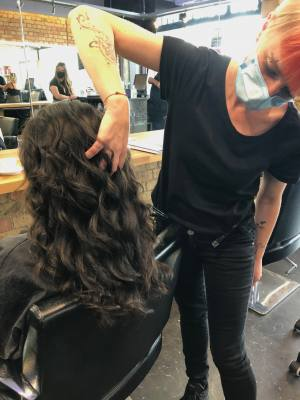 Amazing new curly blow-dry technique